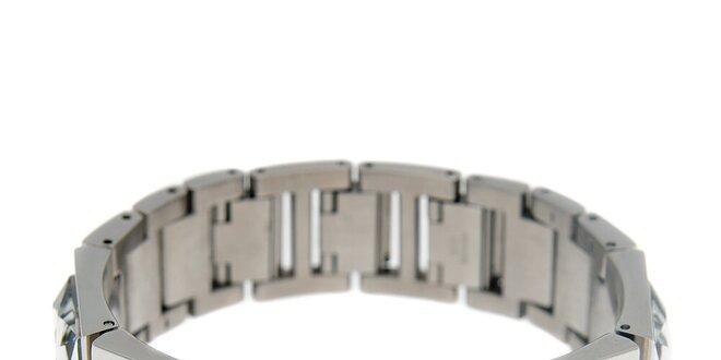 100d3622b Dámske striebornej náramkové hodinky Guess s brúsenými kameňmi ...