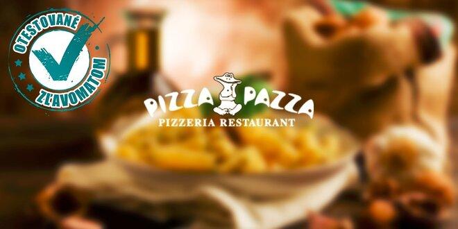 Talianske víkendové 3-chodové menu v PIZZA PAZZA