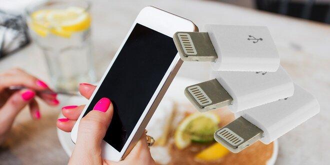 Micro USB redukcia pre Apple zariadenia