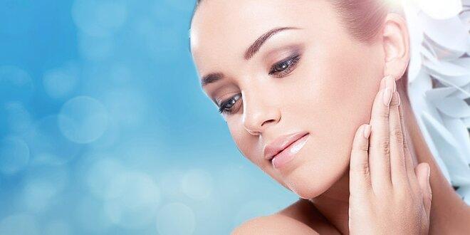 Hodinové hĺbkové ošetrenie pleti profesionálnou kozmetikou + úprava obočia
