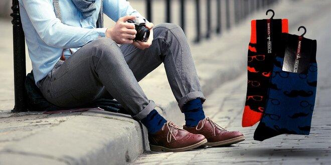 Pánske ponožky - FANCY HIPSTER pre všetky vekové kategórie