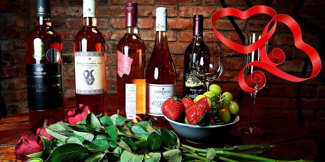 Valentínska degustácia slovenských ružových vín s odborným výkladom someliérky