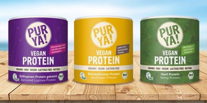 PUR YA Bio Vegan Proteíny: na výber 6 druhov