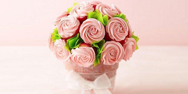 Originálne sladké cupcakes kytice