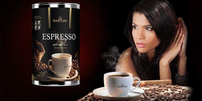 Čerstvá talianska káva SANTINI - luxusná darčeková dóza