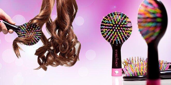 Profesionálna kefa na vlasy Rainbow Brush