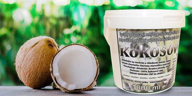 Kokosový olej do vašej kuchyne 1000 g - bez arómy