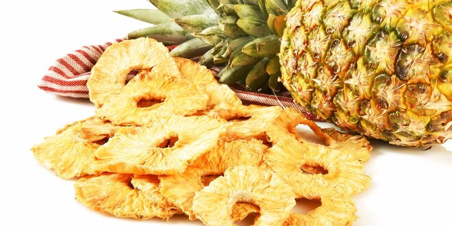 Sušený ananás alebo arónia bez pridaného cukru