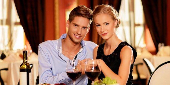 Romantická 4-chodová večera a privátne wellness