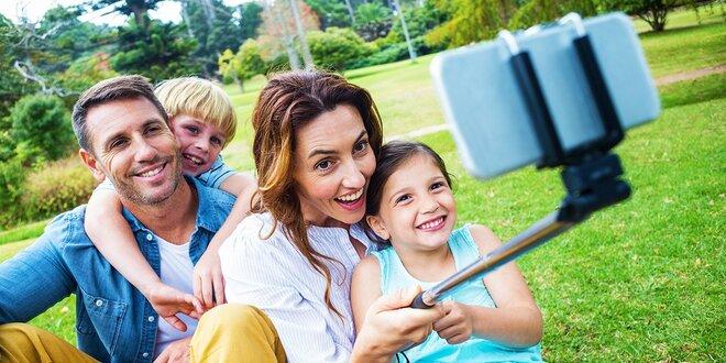 Teleskopická selfie tyč v 5 farbách