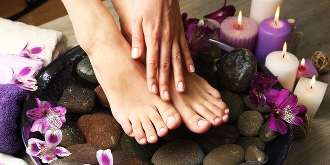 Mokrá pedikúra s masážou a parafínovým zábalom