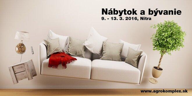 Medzinárodná výstava Nábytok a bývanie 2016: Agrokomplex Nitra