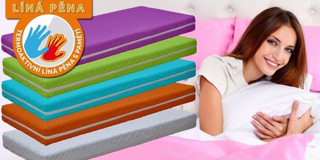 Stredne tvrdé a priedušné farebné matrace