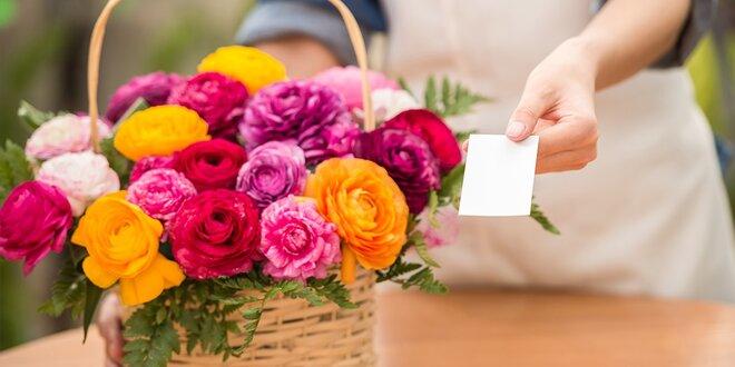 Zľavový kupón na nákup kvetov