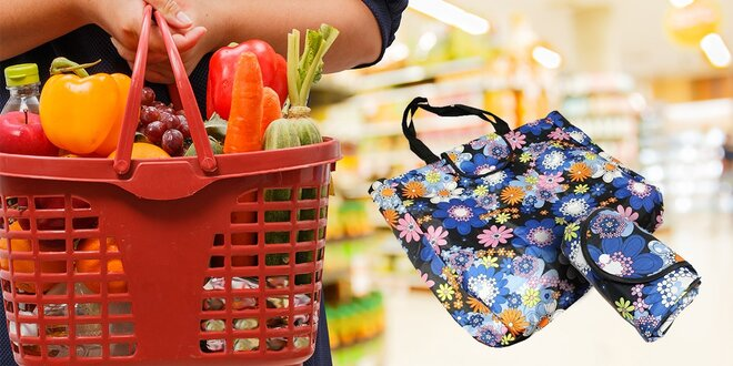 Praktické a pevné skladateľné nákupné tašky