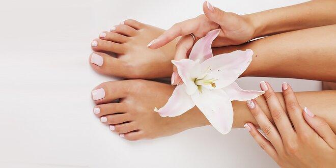 Klasická manikúra a relaxačná masáž rúk či klasická pedikúra