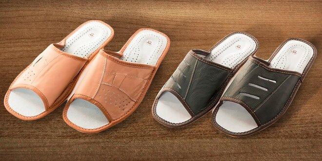 Pohodlné pánske papuče z eko kože