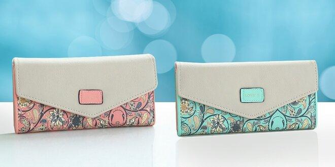 Dámske elegantné kvietkované peňaženky