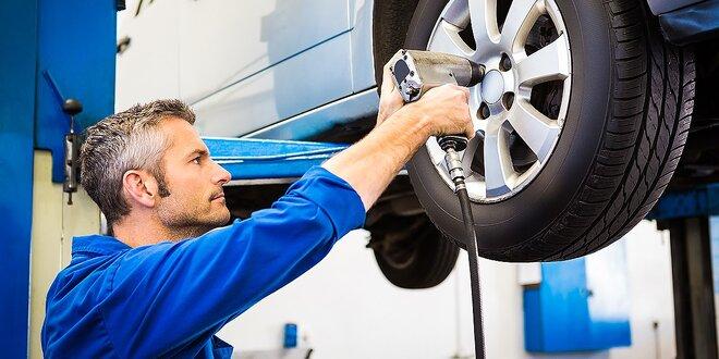Výmena zimných kolies alebo prezutie. Vyváženie a kontrola vozidla v cene!