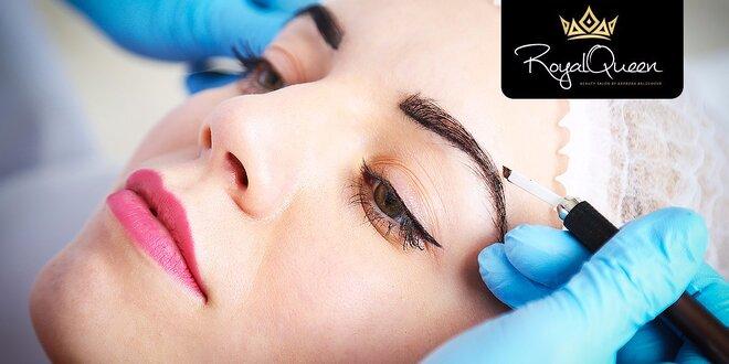 Permanentný makeup obočia, pier alebo očných liniek