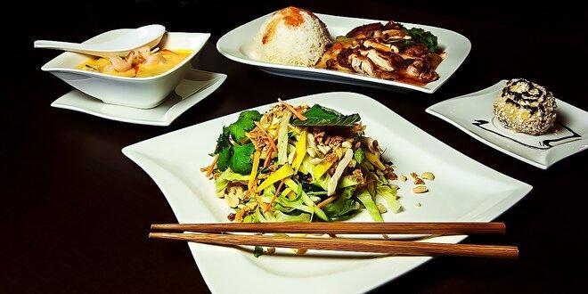 Tradičné vietnamské 4-chodové menu v reštaurácii Bamboo