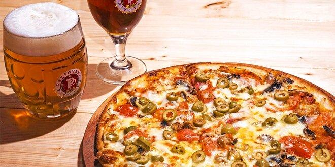 Pizza podľa výberu a pivo v Prešovskom pivovare