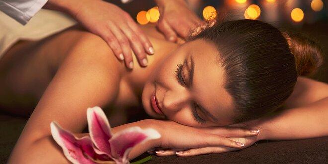 Klasická alebo relaxačná masáž chrbta a šije