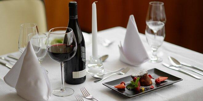 Štvorchodové degustačné jarné menu pre 2 osoby s fľašou vína