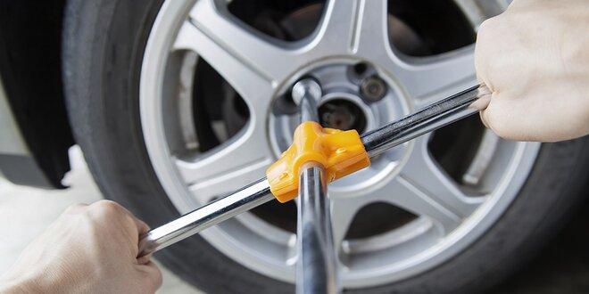 Jarná výmena alebo kompletné prezutie kolies s kontrolou auta a vyvažovacím…
