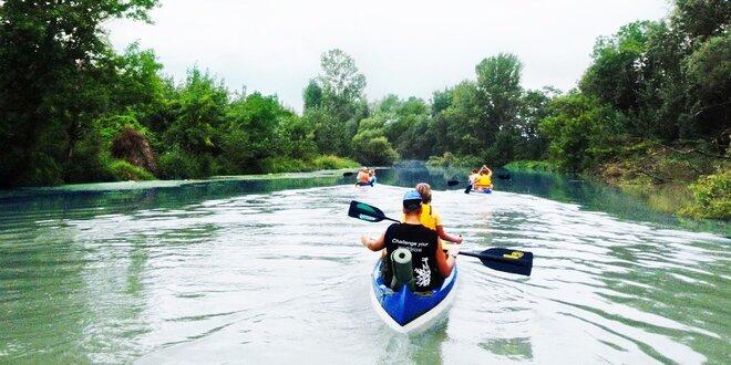 Splav Moravy na kanoe, deti do 6 r. zdarma