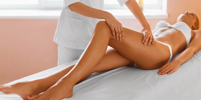 Masáž chrbta a anticelulitídna masáž nôh so zábalom