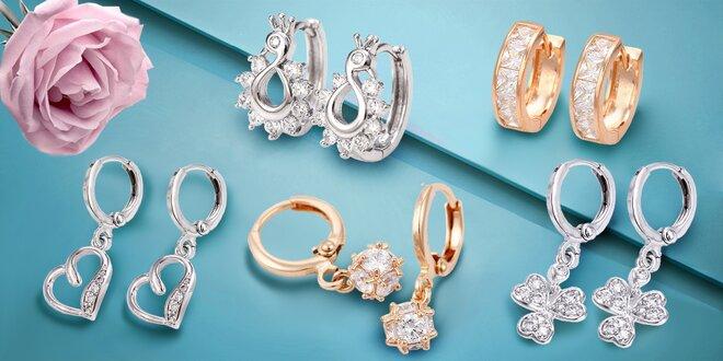 Nádherné rodiované či pozlátené šperky Prime Collection s trblietavými zirkónmi