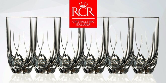 Sada 6 luxusných 475 ml pohárov RCR Italy