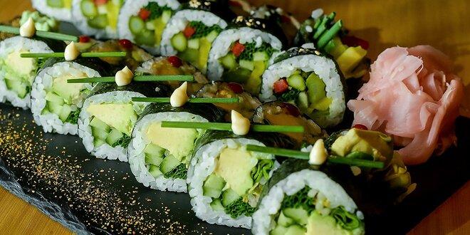 SUSHI 24 kusov! Avocado roll a Asparagus roll v EDO–KIN sushi & sake bar