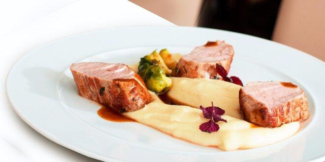 Exkluzívne 4-chodové menu pre 2 osoby v Reštaurácii Hotela Panorama****