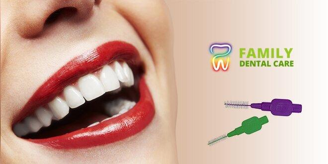 Dentálna hygiena a bielenie zubov lampou Zoom