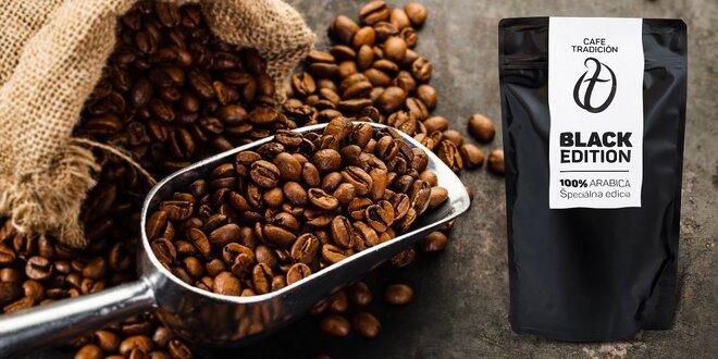 Exkluzívna zrnková káva BLACK EDITION - 500 gramov