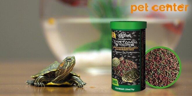 Tyčinkové krmivo Tartamix pre vodné aj suchozemské korytnačky