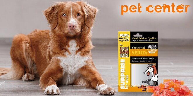 Dva balíčky kuracích pamlskov pre psov od Huhubamboo – Golden Edition Quality