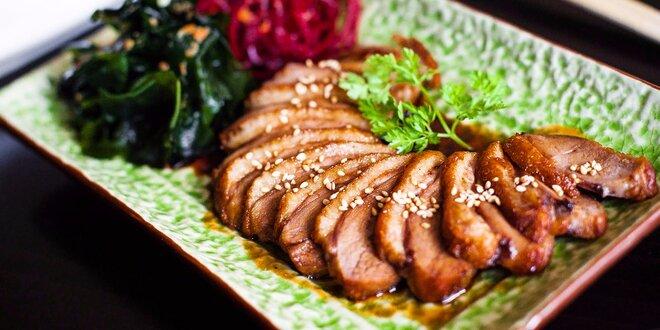Kačacie prsia s teriyaki omáčkou aj s predjedlom v Akiko Sushi bare