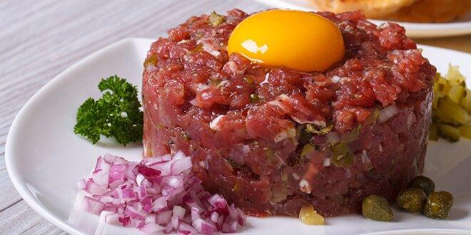Tatársky biftek s hriankami pre dvoch