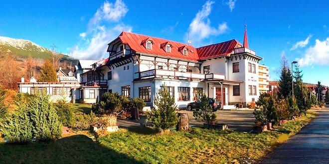 Oddych vo Vysokých Tatrách v historickej vile