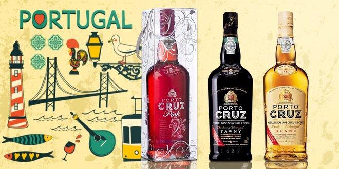 Luxusné portské vína Porto Cruz zo severu Portugalska