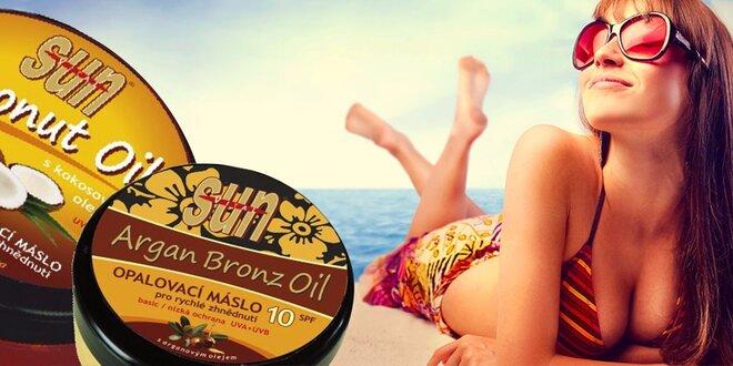 Opaľovacie maslá SUN Vital s arganovým alebo kokosovým olejom