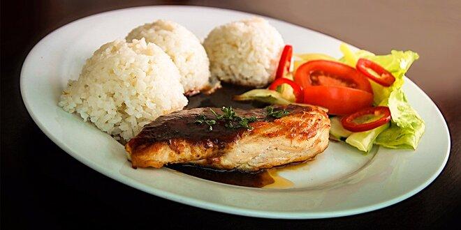 Kurací steak so slivkovou omáčkou a ryžou vo Fresh food Chef Jeremy