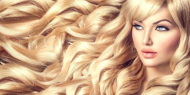Predĺženie vlasov eurolokovou alebo keratínovou metódou. V cene 50 prameňov!