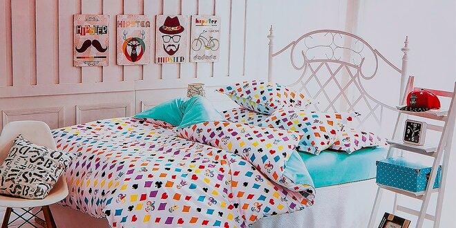 Exkluzívne posteľné 3-dielne alebo 7-dielne obliečky s krásnymi vzormi