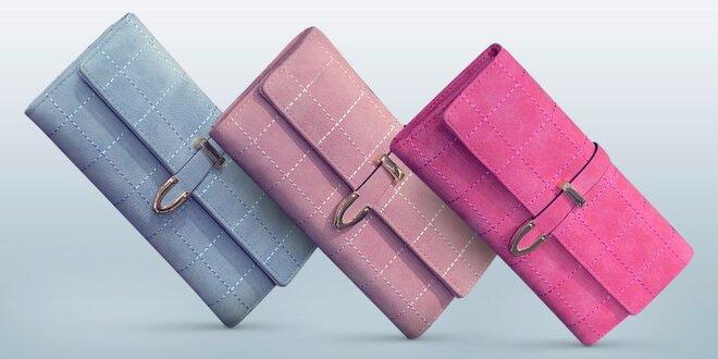 Elegantné prešívané peňaženky v tvare kabelky