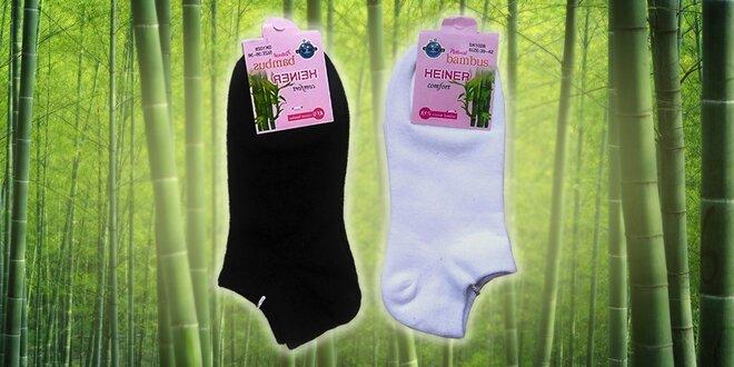 Kvalitné dámske členkové bambusové ponožky