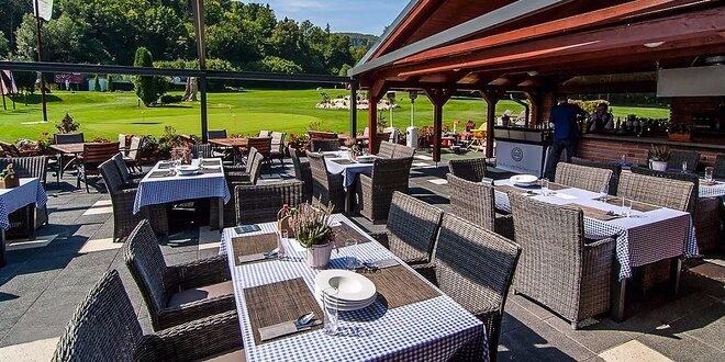 Chutné jedlo a golf na Alpinke